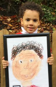 Self portraits - infants Autumn 2017