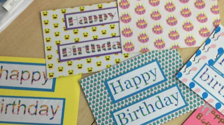 PSHE Week Birthday Cards for the Royal Free Hospital June 2019