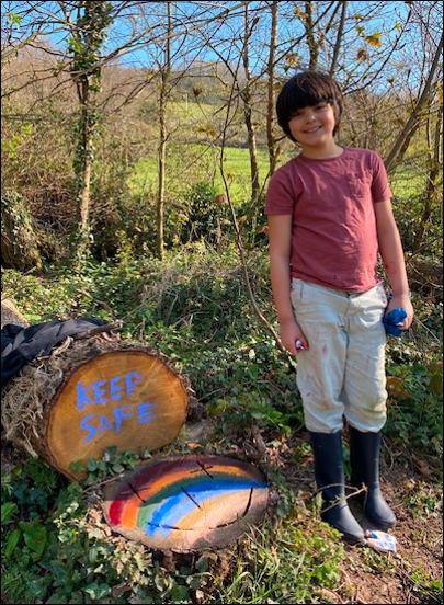 Rainbows for a community of home learners 1 March 2020
