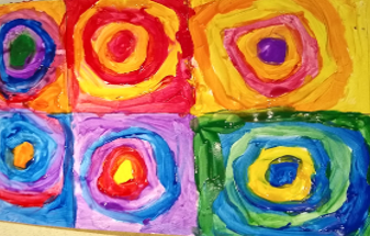 Reception Home Learning Kandinsky art April 2020