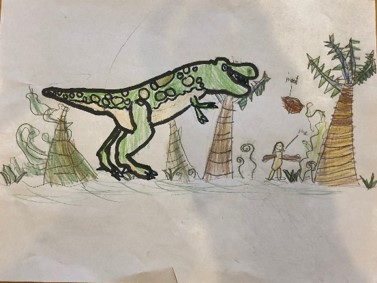 Y3 Dinosaur Drawings May 2020