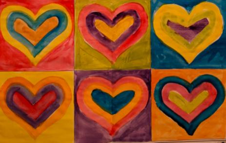 Y6 Art Kandinsky Hearts Feb 2021