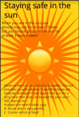Y6 PSHE Sun Safety Feb 2021