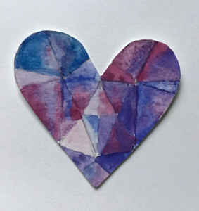 Y5 Art Geometric Hearts Feb 2021